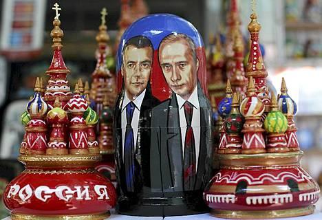 Venäjän ikuisuusjohtajat ovat päässeet matkamuistomyymälän hyllyille.