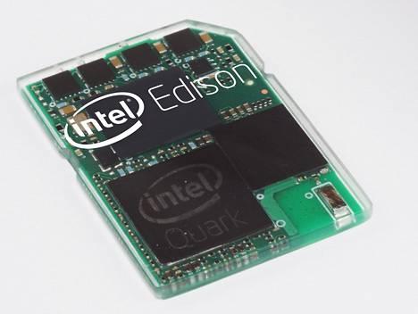 Intel Edison on muistikortin kokoinen tietokone, joka perustuu Quark-ytimeen. Tämä on yksi niistä alustoista, joilla Intel pyrkii valtaamaan esineiden internetiä.