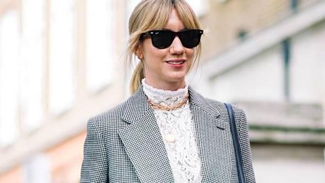 Pitsinen paita on monikäyttöinen vaatekappale, joka tuo jokaiseen lookiin ripauksen vintage-henkeä. Katutyyliä muotiviikoilta.
