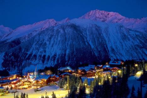 Courchevel sijaitsee Ranskan Alpeilla.