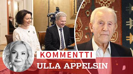 Veteraani Yrjö Rimpinen vieraili etäyhteydellä Linnan juhlien lähetyksessä presidenttiparin haastateltavana.