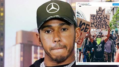 Lewis Hamilton on puhunut viime aikoina voimakkaasti yhdenvertaisuuden puolesta.