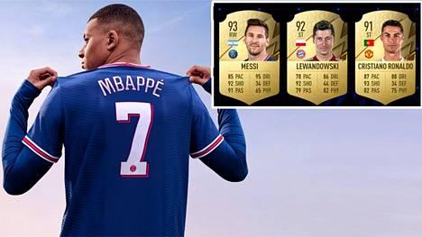 Mbappe koristaa toista vuotta peräkkäin pelin kantta. Parhaiden pelaajien listalla hän jakaa kolmannen sijan muun muassa Cristiano Ronaldon kanssa.