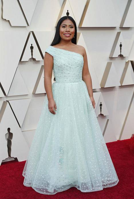 Yalitza Aparicio oli ehdolla parhaasta naispääosasta elokuvasta Roma. Rooli oli näyttelijälle ensimmäinen elokuvassa.