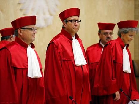 Saksan perustuslakituomioistuimen päätös tuli aamupäivällä.