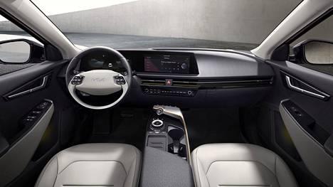 Jos ulkoisesti EV6 eroaa Kian muusta mallistosta, niin myös sisätiloihin on luvassa uudenlaista muotokieltä.