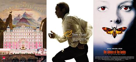 105. The Grand Budapest Hotel / 8. 12 Years a Slave / 72. Uhrilampaat