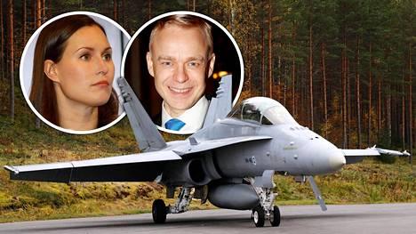 SDP:n Sanna Marinin mukaan Suomeen hankittavien uusien hävittäjäkoneiden määrä ei ole vielä kiveen hakattu. Kokoomuksen kansanedustaja Timo Heinonen ihmettelee SDP:n tuoretta näkemystä hankittavien hävittäjien määrästä.