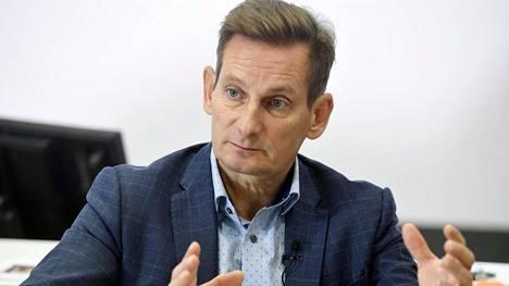 Alma Median toimitusjohtaja Kai Telanne esitteli mediakonsernin osavuosikatsauksen Helsingissä 23. lokakuuta 2019.
