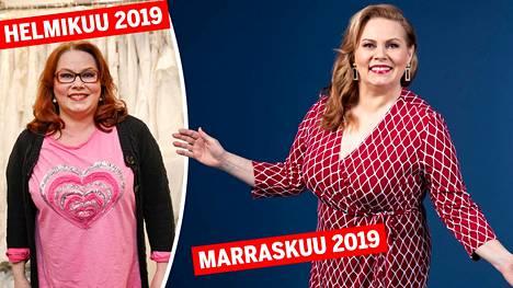 Ennen ja jälkeen! Huima muodonmuutos siivitti Nina Mikkosen voittoon.