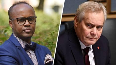 """Antti Rinne kommentoi Abdirahim """"Husu"""" Husseinin valehtelujupakkaa eduskunnassa ennen aktiivimallin leikkureiden purkua koskeneen keskustelua alkua."""