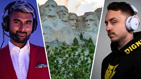 """Mohan """"launders"""" Govindasamy (vasemmalla) kysyi seuraajiltaan, ketkä neljä pelaajaa kuuluisivat CS:GO-pelin kuvitteeliseen Rushmore-vuoreen. Yksi eniten vastauksia saaneista pelaajista oli ruotsalainen Christopher """"GeT_RiGhT"""" Alesund."""