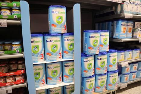 Maitojauheet ja äidinmaidonkorvikkeet kiinnostavat kiinalaisia.