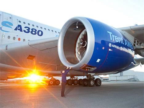 Airbus on tehnyt koelentoja A380-koneilla, joissa on käytetty tulevan A350:n moottoreita.