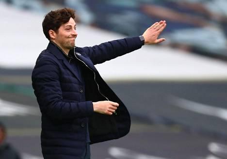 29-vuotias Ryan Mason toimii tällä hetkellä Tottenhamin päävalmentajana.