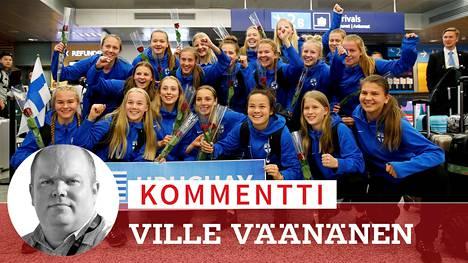 Suomen alle 17-vuotiaat tytöt tekivät jalkapallohistoriaa.