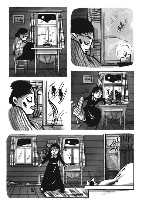 Mari Ahokoivu kertoi sarjakuvaksi valkoisten puolella toimineen Helena Monton tarinan.