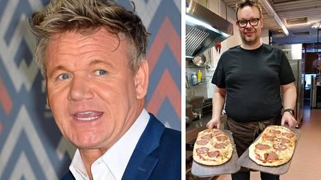 Torniolainen Henry Saloniemi sai (oik.) viime perjantaina yllätysvieraita ravintolaansa, kun julkkiskokki Gordon Ramsay seurueineen piipahti pizzalle.