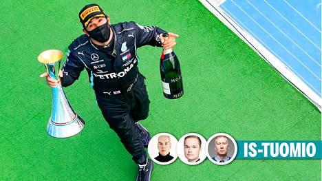 Lewis Hamilton juhli jälleen Hungaroringillä.