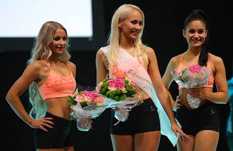 Henna Kannisto, Anna Korhonen ja Janina Ahlgren muodostivat Fitnessmalli-kilpailun kärkikolmikon.