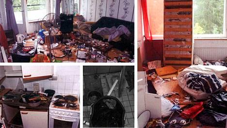 Vuokra-asunto kärsi pahoja vahinkoja.