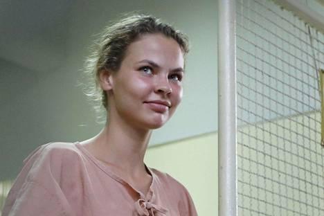 Anastasia Vashukevitsh kuvattuna vankilassa Thaimaan Pattayalla viime elokuussa.