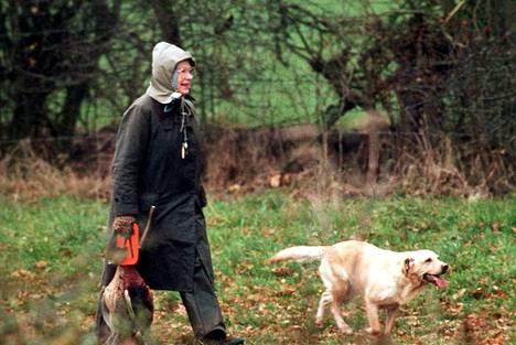 Myös kuningatar Elizabeth on osallistunut perinteiseen fasaaninmetsästykseen.