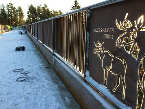 Kuusijärven siltaa koristavat eläinaiheiset koristeleikkaukset.