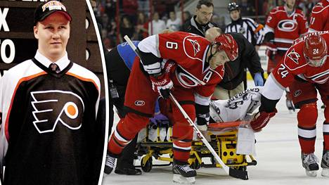 Joni Pitkänen varattiin NHL:ään 2002. NHL-ura päättyi vakavaan loukkaantumiseen ottelussa 2013.