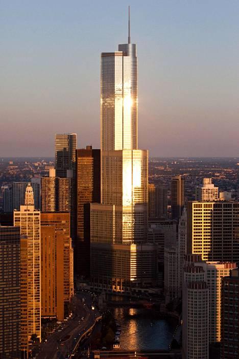 Trump International Hotel and Tower kuvattuna Chicagossa valmistumisvuonnaan 2009.