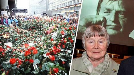Olof Palmea ammuttiin Tukholmassa Sveavägenin ja Tunnelgatanin kulmassa hänen ollessaan palaamassa elokuvateatterista vaimonsa Lisbeth Palmen kanssa.