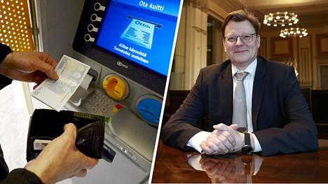 –Me olemme huolissamme siitä, että jos ja kun on ihmisiä, jotka haluavat käyttää käteistä, sellainen mahdollisuus pitää olla, sanoo Suomen pankin johtokunnan jäsen Tuomas Välimäki.