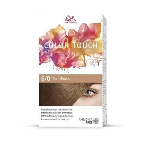 Wellan Professionalsin kotivärisarja Color Touchin sävy 6.0 on dark blonde, tummanvaalea, 19,50 €.