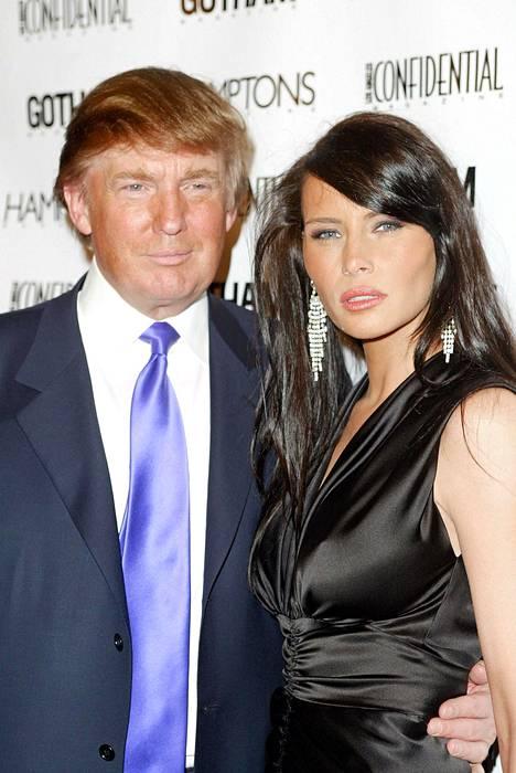 Kuvassa Donald ja Melania vuonna 2004. Pariskunta on ollut yhdessä yli 20 vuotta.