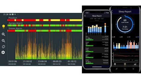 ApneaTracker-sovellus auttaa tunnistamaan uniapnean oireita puhelimen ja älykellon avulla.