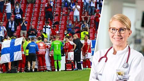 Urheilukardiologi Kirsi Korpi arvioi Tanskan pelaajan Christian Eriksenin sydänpysähdyksen syitä.