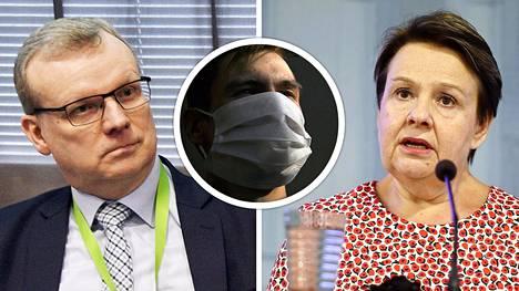 THL:n johtaja Markku Tervahauta nosti maskien hyötyjä esille jo huhtikuussa, mutta THL ja STM tiedottavat vähän myöhemmin, ettei maskisuositusta anneta.