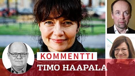 Kirsi Piha, Jussi Halla-aho ja Anni Sinnemäki.
