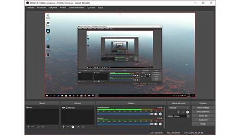 Ilmainen OBS Studio -ohjelma on saatavissa Windowsille, Macille ja Linuxille.