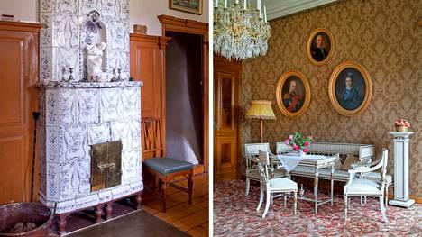 Mariefredin posliinitehtaan kaakeliuuni on 1700-luvulta. Toisen kerroksen pikkusalia kutsutaan Standerskjöldin salongiksi. Seinillä on noin 20 sukulaisten muotokuvaa.