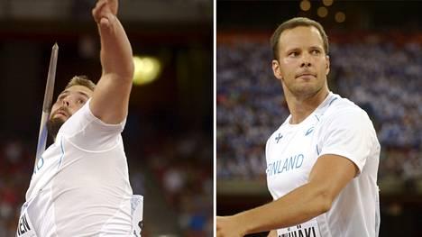 Antti Ruuskanen tavoittelee uransa ensimmäistä MM-mitalia. Tero Pitkämäellä niitä on jo kaksi: kulta Osakasta 2007 ja hopea Moskovasta 2013.