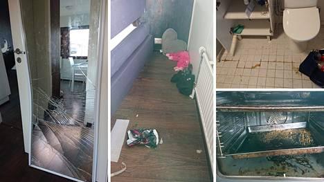 Vuokralainen aiheutti asuntoon valtavat vahingot.
