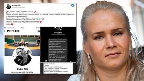 Petra Olli varoittaa ihmisiä sosiaalisessa mediassa leviävistä huijauksista.