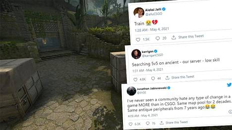 Ancient kartta esiteltiin joulukuussa 2020. Toukokuun alussa kartta lisättiin osaksi pelin aktiivista karttavalikoimaa. Päätös on jakanut mielipiteet, varsinkin kun tilaa teki ikoninen Train-kartta.