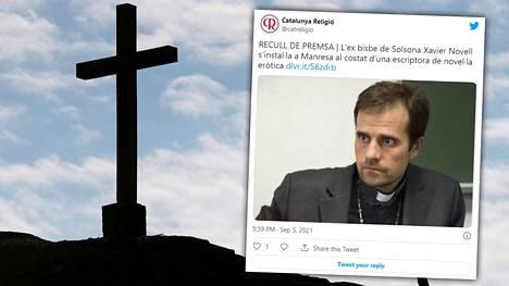 Solsonan piispanvirasta eronnut Xavier Novell, 52, on ollut kuluneen viikon aikana kohun keskiössä Espanjassa.