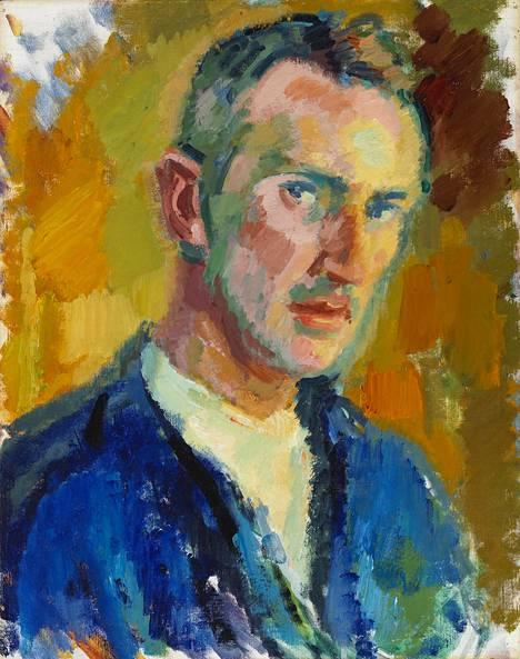 Magnus Enckellin omakuva vuodelta 1918 taiteilijan ollessa 48-vuotias.
