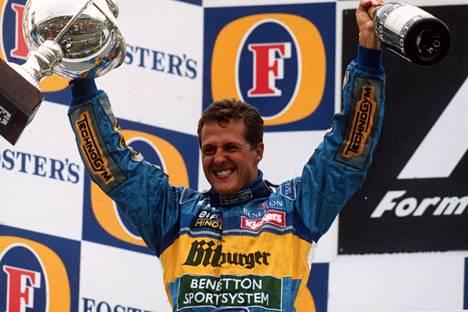 Michael Schumacher saavutti suurta menestystä päästyään Benettonille.