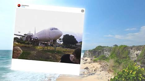 Hylätyt lentokoneet ihmetyttävät Balilla.