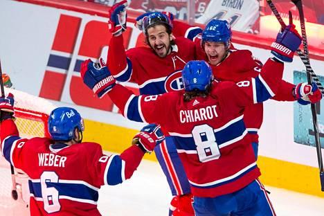 Artturi Lehkonen (oik.) on Montrealin juhlittu sankari.