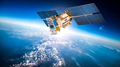 Avaruussatelliitti Nasan tuottamassa kuvituskuvassa.